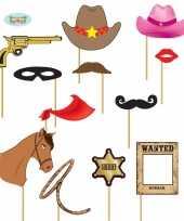 Foto prop set cowboy 12 delig masker