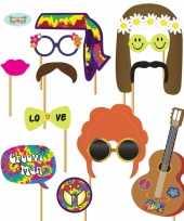 Foto prop set hippie 12 delig masker