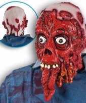 Ghoulish bloederig horror latex masker voor volwassenen
