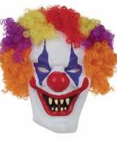 Halloween horror clown masker voor volwassenen
