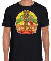 Hawaii feest t-shirt shirt tiki bar aloha zwart voor heren masker