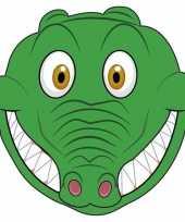 Krokodillen maskers van karton