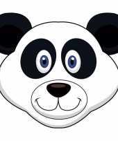Pandaberen maskers van karton