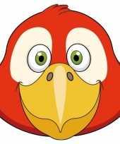 Papegaaien maskers van karton