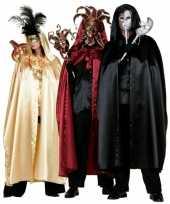 Rode venetiaanse cape voor volwassenen masker