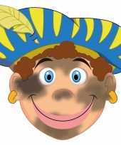 Sinterklaas kartonnen roetveeg pieten masker voor kinderen 10096321